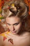 Осень женщины стоковая фотография