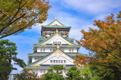 Осень замка Осака предыдущая Стоковые Изображения