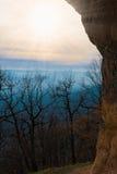 Осень захода солнца горы Стоковые Изображения RF