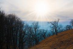 Осень захода солнца горы Стоковая Фотография RF