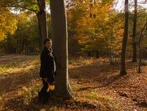 Осень золота женщины Стоковая Фотография RF