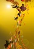 Осень золотистая иллюстрация штока