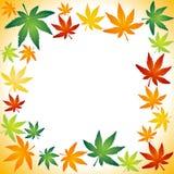 Осень листает граница иллюстрация штока