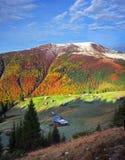 Осень и зима совместно Стоковые Изображения
