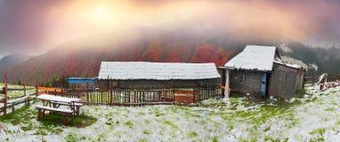 Осень и зима совместно Стоковая Фотография RF