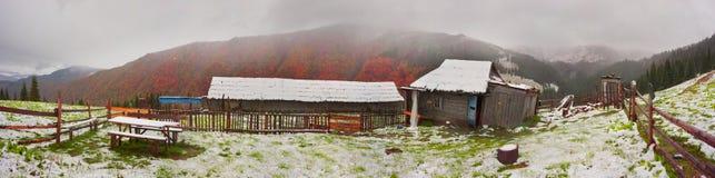 Осень и зима совместно Стоковые Изображения RF