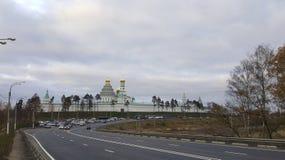 Осень и монастырь стоковые фотографии rf