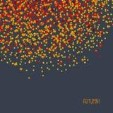 'Осень!' карточка Простая открытка с разбросанными кленовыми листами Стоковые Фотографии RF
