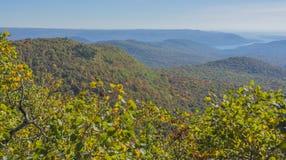 осень красит горы стоковые изображения