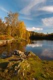 осень красит озеро английской языка заречья Стоковая Фотография