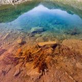 Осень красит озеро гор градиента стоковые изображения rf