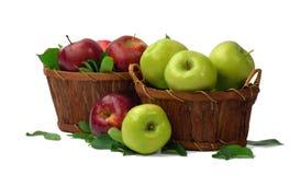 Осень Лето корзина яблок органическая витамины Concep Стоковое Изображение