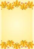 осень листает шаблон Стоковые Изображения RF