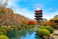 Осень на виске Toji в Киото, Японии Стоковое Изображение