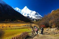Осень на заповеднике Yading в графстве Daocheng, Китай Стоковое Фото