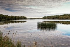 Осень на озере Стоковая Фотография