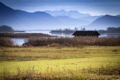 Осень на озере Chiemsee, Германии Стоковые Фотографии RF