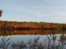 Осень на озере McCormack Стоковое фото RF