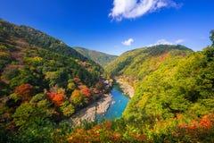 Осень на точка зрения Arashiyama Стоковое Изображение