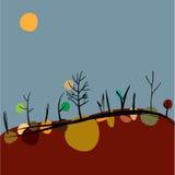Осень на холмах Стоковая Фотография RF