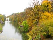Осень Парк Sofiyivka в Украине Стоковые Фотографии RF