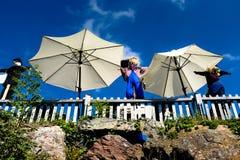 Осень позволяет танцу кукол стоковая фотография