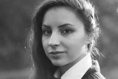 Осень портрета парка стиля дела девушки Стоковое Изображение RF