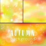 Осень предпосылки Золотое bokeh как предпосылка иллюстрация штока