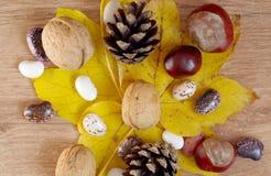 Осень приносить на таблице стоковое фото rf