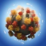 Осень сезона планеты стоковое фото rf