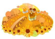 осень сельская Стоковая Фотография