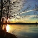 Осень Солнце Стоковое Изображение RF