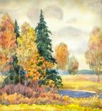 осень хмурая Стоковые Изображения