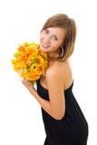 осень цветет женщина Стоковое Фото