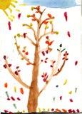 осень яркая Стоковые Фото