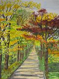 осень 2 переулков Стоковые Изображения