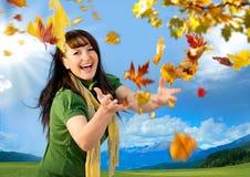 осень 3 радостная Стоковая Фотография