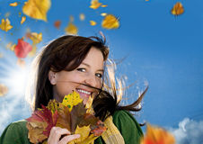 осень 4 радостная Стоковые Изображения RF