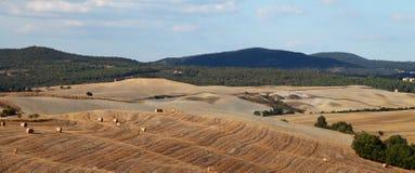 осень fields Тоскана Стоковое Фото