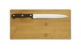 доска предпосылки прерывая изолированную белизну ножа Стоковое фото RF