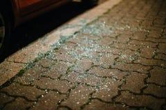 Осколки стекла в мириадах частей Стоковые Фото