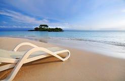 ослаблять пляжа тропический Стоковое Изображение
