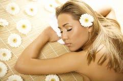 ослабляя спа Стоковые Изображения