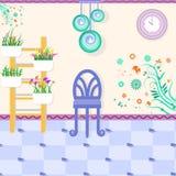 Ослабьте интерьер комнаты бесплатная иллюстрация