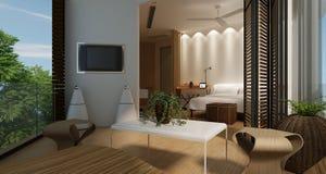 Ослабьте спальню Стоковое Изображение RF