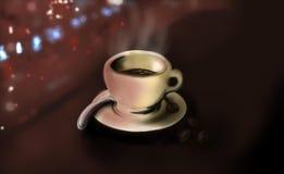 Ослабьте coffe джаза бесплатная иллюстрация