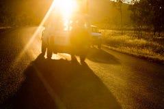 ослепленное солнце Стоковые Изображения RF