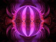 Ослеплять розовая фракталь пламени шарика диско бесплатная иллюстрация