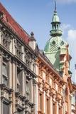 ОСЛО - 15-ОЕ ИЮЛЯ 2014: Историческое здание в центре, 15-ое июля, Стоковое Фото