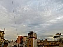 Осматривать небо и старый город Буэноса-Айрес, Аргентина Стоковая Фотография RF
